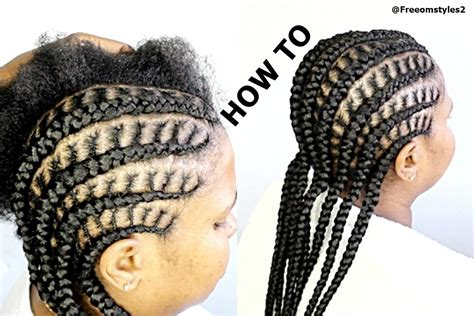Simple Cornrow Hairstyles by How To Do Simple Cornrow Braids Black Hair
