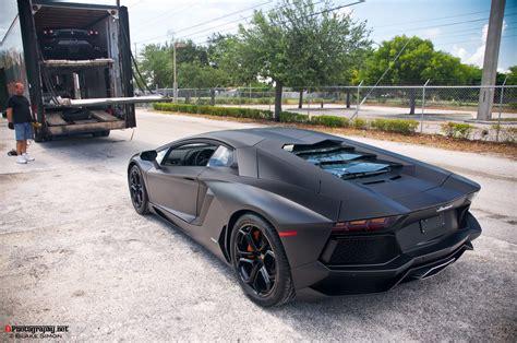 Lamborghini Aventador Matte Lamborghini Aventador Lp700 4 Matte Black By Autobloggr