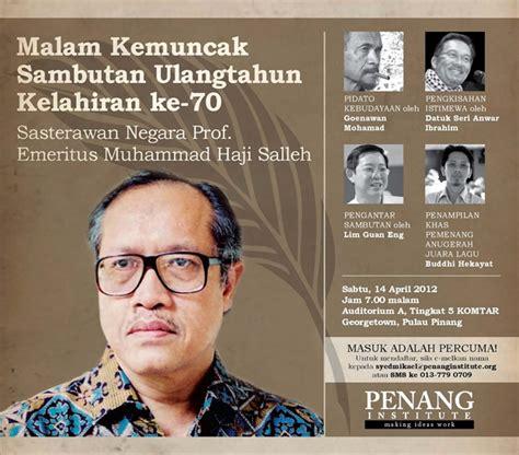 Haji For Oleh Muhammad Safrodin muhammad haji salleh ilmuan dan budayawan abadi oleh