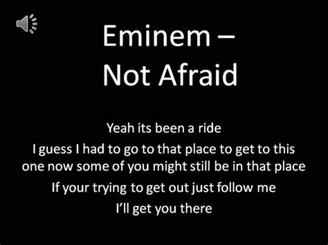 eminem im not afraid pin eminem im not afraid lyrics on pinterest