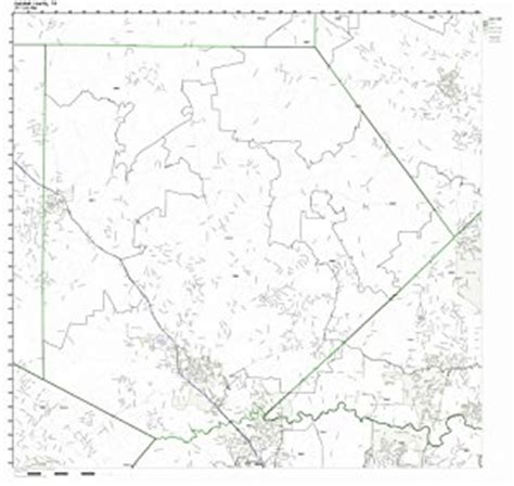 kendall county texas map kendall county texas tx zip code map not laminated prints