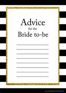 free printable advice cards bridal shower free printable advice for the to be cards