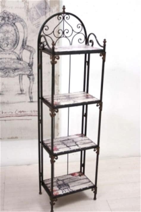 scaffali in ferro battuto scaffale ferro vintage chic etnico outlet mobili etnici
