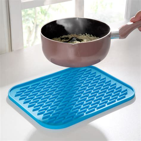 Folding Pot Mat 1 kitchen silicone mat pot holder insulation pad