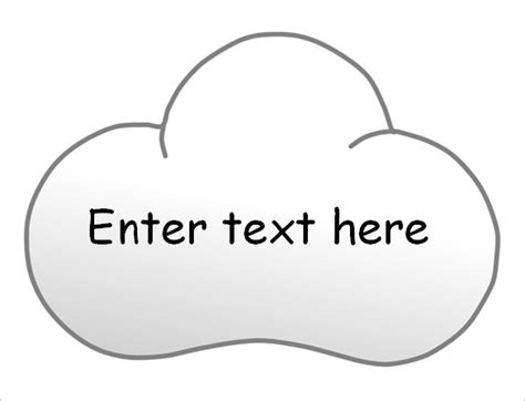 free printable cloud template free word cloud template go search for tips