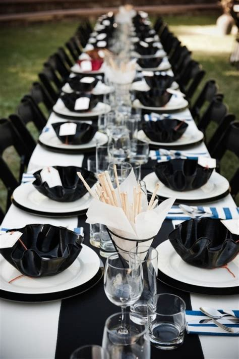 black and white table setting 52 black and white wedding table settings