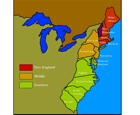 map of the colony 13 colonies profiles