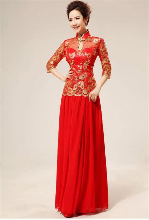 Brukat Cheongsam Collar 結婚式 服 通販 チャイナ服 激安 チャイナドレス パーティドレス チャイナドレス通販のdevips