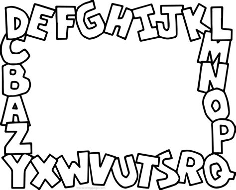 simple alphabet abc coloring page with abc color pages