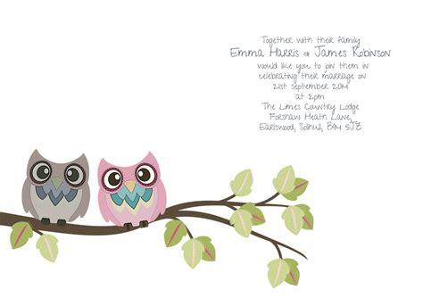 diy owl invitation template birds wedding invitation owl wedding invitation diy