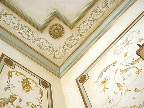 Ceiling Border Stencils by Living Room Idea Stenciled Panels Stencils By