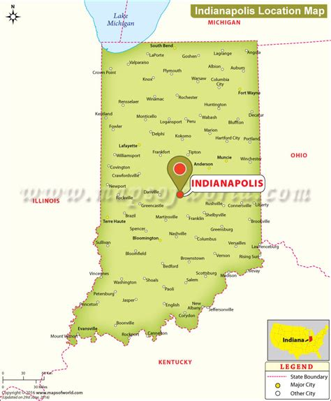 usa map states indianapolis where is indianapolis located in indiana usa