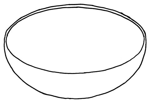 bowl coloring page clipart best