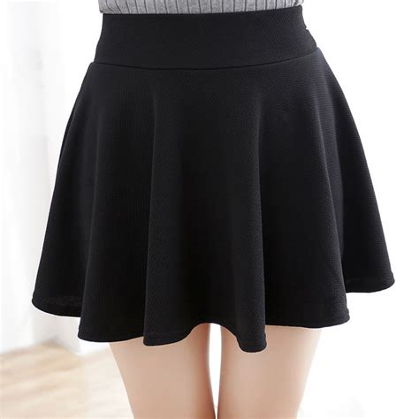 fashion skirt black plus size xl fall winter