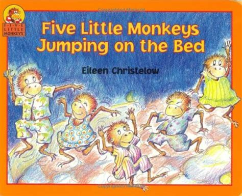 monkeys jumping on the bed game book puppets