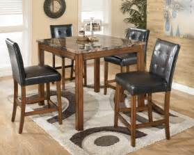 Dining Room Bar Furniture Theo Square Table Dinette Set By Signature Design D158 225