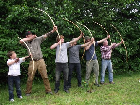 wooden yew bow workshops and arrow building workshops