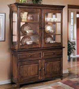 Modern Dining Room Buffet And Hutch Signature Design By Larchmont Brown Dining