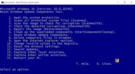 resetting windows update 10 reset windows update agent to default in windows 10