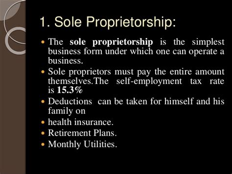 sole proprietorship is the simplest form tax planning consideration in business