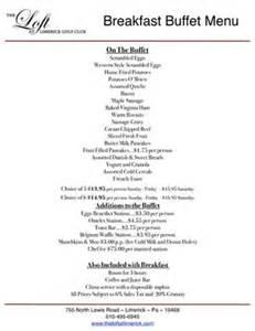 breakfast buffet menu loft at landis creek premier banquets receptions event venue