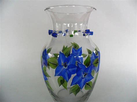 Painted Vase by Vase Painted Cobalt Blue Flowers Flickr Photo