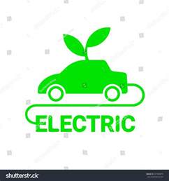 Electric Vehicles Logo Electric Car Logo Template Sign Icon Stock Vector
