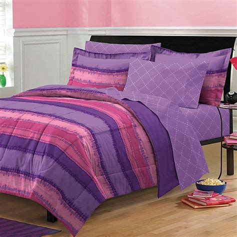 Pink Purple Tye Dye Comforter Sheets Sham Set Dorm Teen Kid Girls Bed Tween Room Ebay