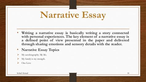 Definition Of Narrative Essay by Narrative Essay Explanation
