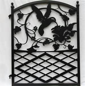 Wood And Wrought Iron Bench Ornamental Wrought Iron Garden Fence Entrance Gate Hummingbird