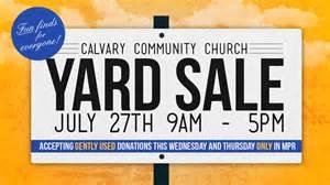 sparknode multimedia calvary community church yard sale