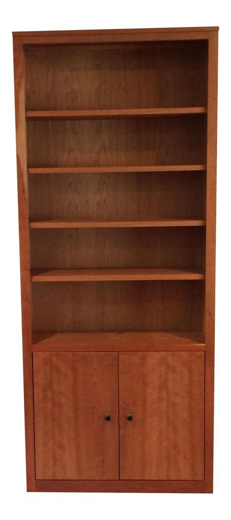 room and board bookcase room board cherry bookshelf chairish