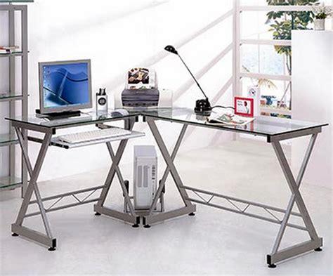 Best Desk L For Computer Work New L Shaped Glass Top Desk Computer Work Station Metal Frame Office