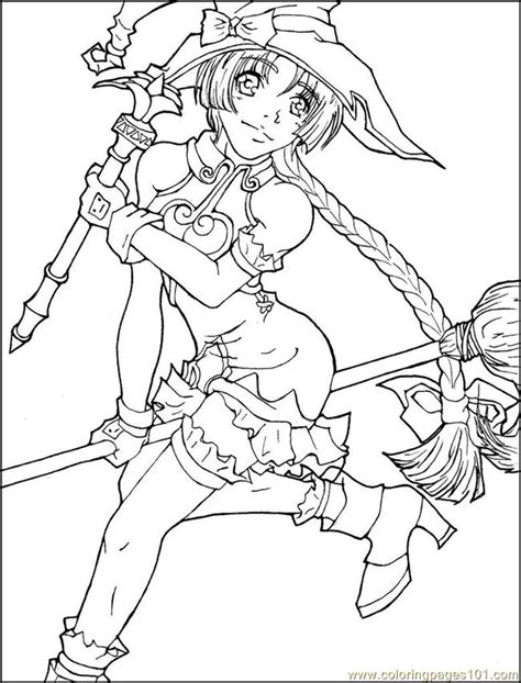 free coloring pages of anime girls animals