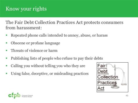 fair debt collection practices act section 809 b cfpb your money your goals toolkit training