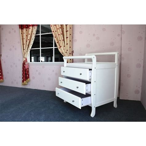 White Wooden Change Table White Wooden Baby Change Table With 3 Drawers Buy Changing Tables