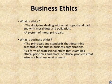 Business Ethics Notes For Mba Ppt by Business Ethics Powerpoint