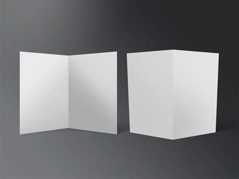 Fold Paper In Half - set of half fold flyer mockups mockupworld