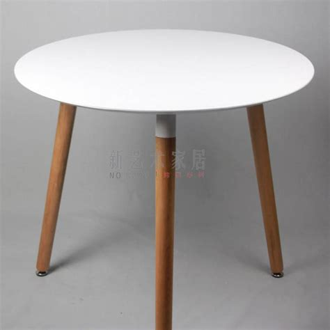 Small Solid Wood Dining Table Negotiating Table Solid Wood Dining Table Small Conference Table Diameter 80cm Fashion