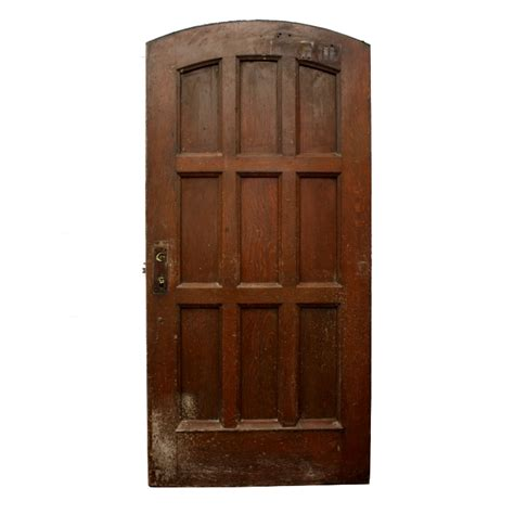 Antique Exterior Doors For Sale Antique 40 Oak Arched Entry Door From Vanderbilt C 1930 S Ned170 For Sale