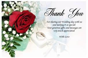thank you card messages for wedding sle messages