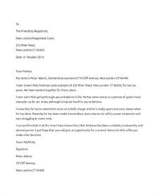 Letter To Judge Template by Writing A Personal Reference Letter To Judge Cover