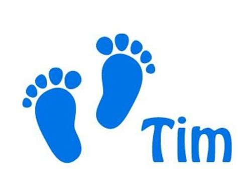 Personalised Bedroom Wall Stickers window decal sticker baby feet birth walldesign56 wall