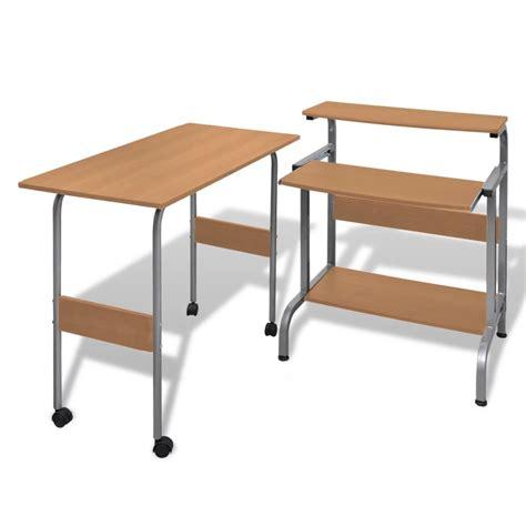 Computer Desk Brown Computer Desk Adjustable Workstation Brown Vidaxl