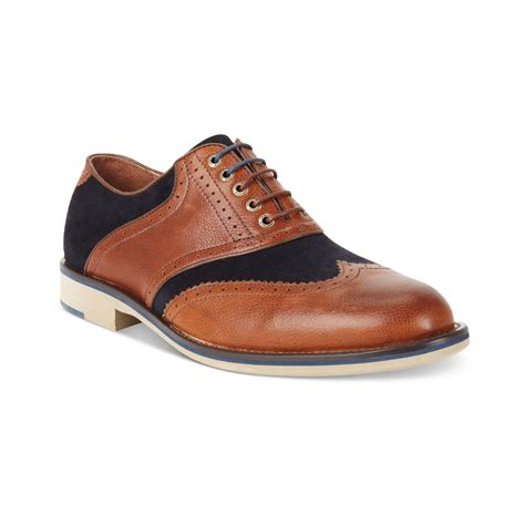 wingtip shoes johnston murphy ellington wingtip laceup shoes in brown