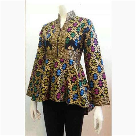 Fashion Wanita Batik Wanita Blouse B3857 model baju batik kerja 1 fasion work models