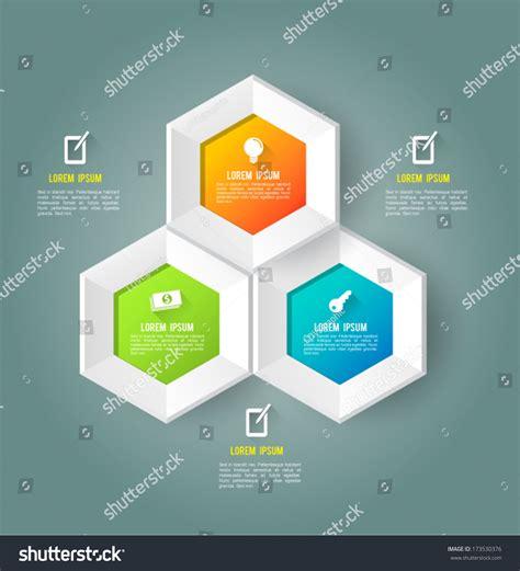 Hexagon Template Icons Long Shadows Vector Stock Vector 173530376 Shutterstock Hexagon Website Template