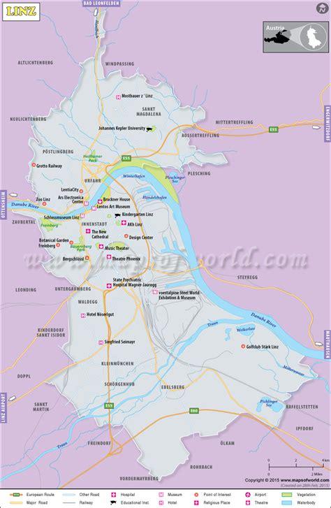 linz map city map  linz austria