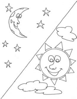 coloring page sun moon stars sun and moon coloring pages