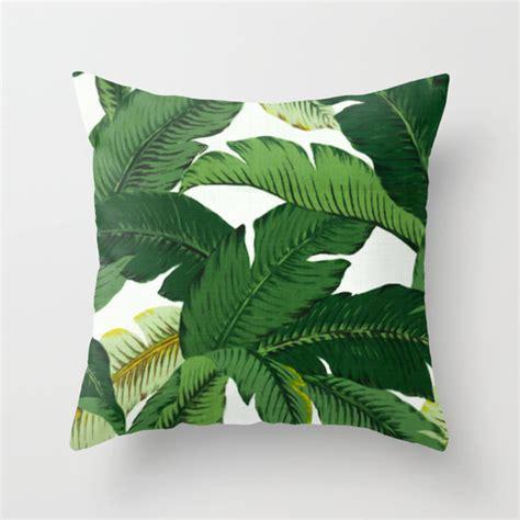 leaf pattern pillow palm leaf pillow banana leaves pattern pillow palm leaves